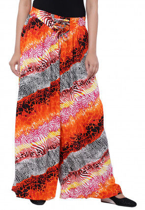 Printed Cotton Palazzo in Multicolor