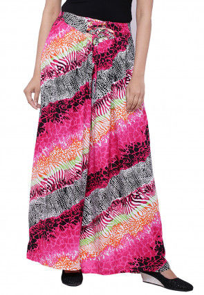 Printed Cotton Palazzo in Pink