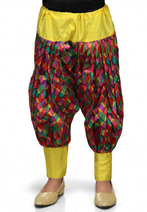 Printed Dupion Jasmine Pant in Multicolor