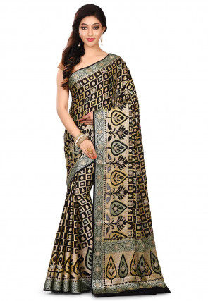 Pure Banarasi Silk Georgette Saree in Black