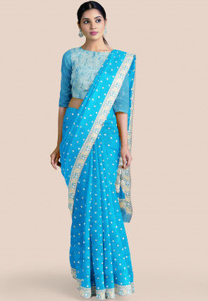 Pure Banarasi Silk Saree in Blue