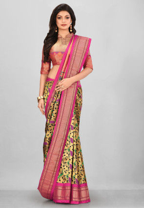 Pure Paithani Silk Saree in Black