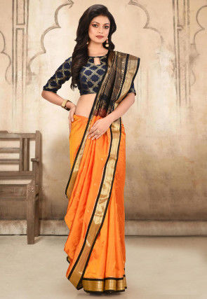 Pure Paithani Silk Saree in Mustard