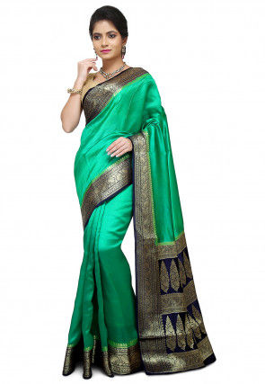 Pure Silk Banarasi Saree in Green