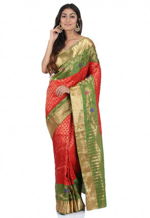 Pure Uppada Silk Saree in Red
