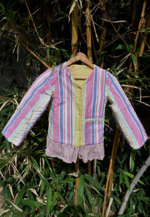 Quilted Cotton Kids Reversible Jacket in Pink and Multicolor