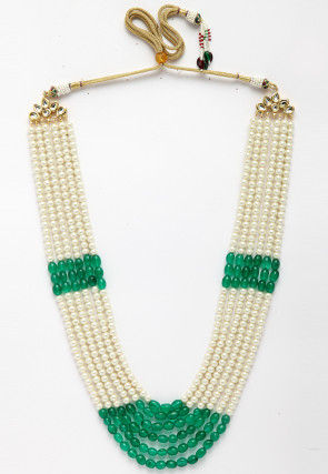 Ruby Beaded Layered Necklace