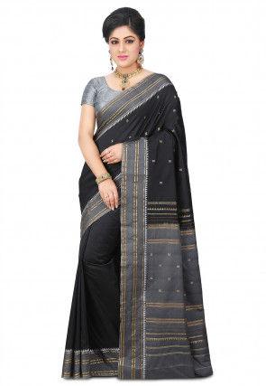 Kanchipuram Saree in Black