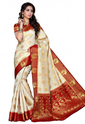 2a9f16e1c6 White Wedding Sarees: Buy Latest Designs Online | Utsav Fashion