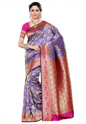 Kanchipuram Saree in Purple