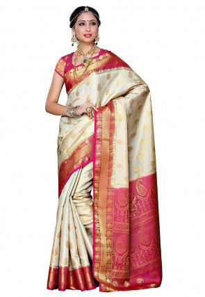 b66b67a233 Kanchipuram Saree: Buy Traditional Kanchipuram Silk Sarees Online ...