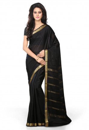 Pure Mysore Silk Saree in Black