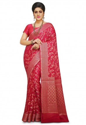 Pure Georgette Saree in Fuchsia