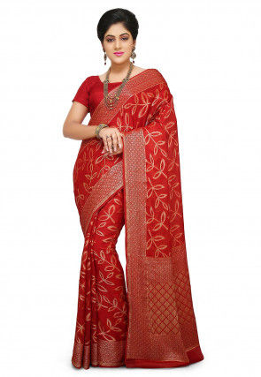 Pure Georgette Saree in Red