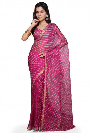 Pure Kota Silk Saree in Fuchsia