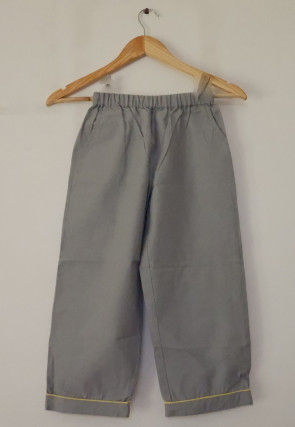 Solid Color Cotton Kids Pant in Grey