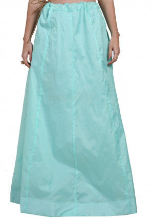 Solid Color Dupion Silk Skirt in Light Blue