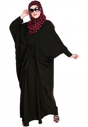 Solid Color Nida Kaftan in Dark Olive Green