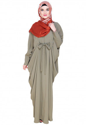 Solid Color Nida Kaftan in Dusty Green