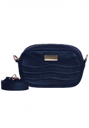 Solid Color PU Leather Fanny Pack (Waist Pouch) in Black