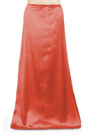 Solid Color Satin Petticoat in Dark Peach