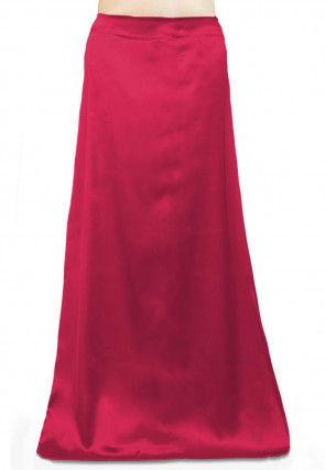 Solid Color Satin Petticoat in Fuchsia