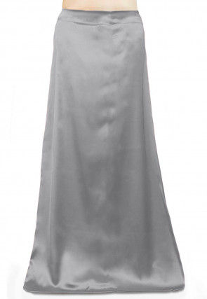 Solid Color Satin Petticoat in Grey