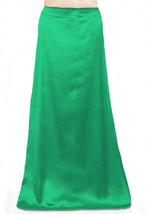 Solid Color Satin Petticoat in Light Green