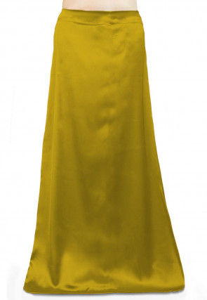 Solid Color Satin Petticoat in Olive Green