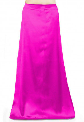 Solid Color Satin Petticoat in Pink