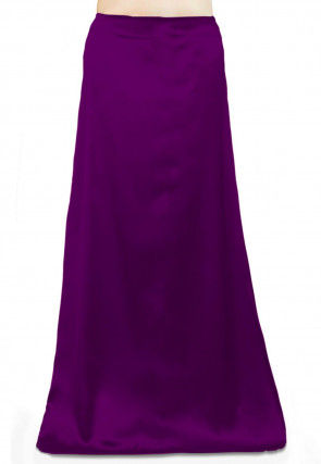 Solid Color Satin Petticoat in Violet