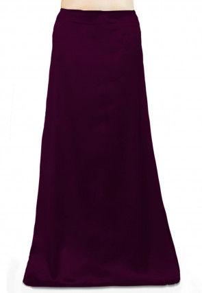 Solid Color Satin Petticoat in Wine