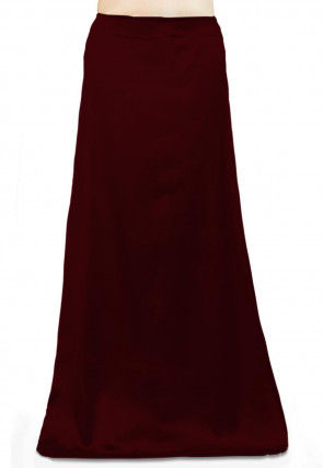 Solid Color Satin Petticoat in Wine