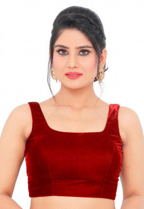 05f7ff65c891c6 Velvet - Red - Ethnic Blouses: Buy Indian Saree Blouse Designs from ...