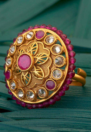 Stone Studded Adjustable Ring