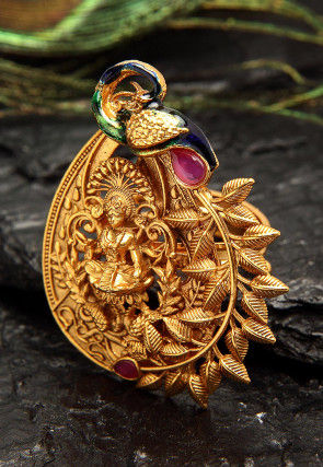 Stone Studded Adjustable Temple Ring