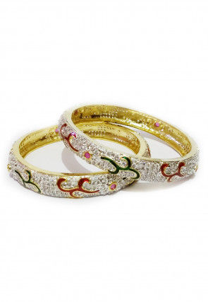 Stone Studded Bangle Pair