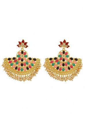 Stone Studded Chandbali Earrings
