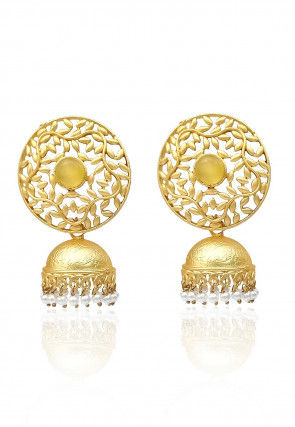 Stone Studded Jhumka Style Earrings