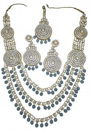 Stone Studded Layered Necklace Set