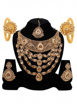 Stone Studded Layered Necklace Set