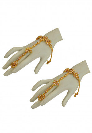 Stone Studded Pair of Adjustable Haathphools