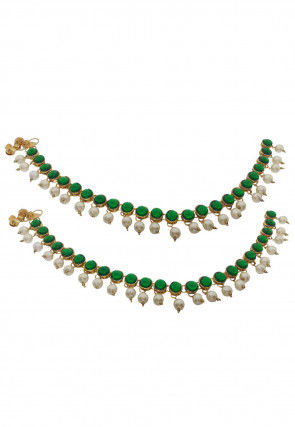 Stone Studded Pair of Anklets