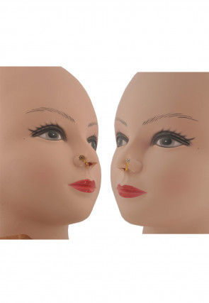 Stone Studded Pair of Nose Pin