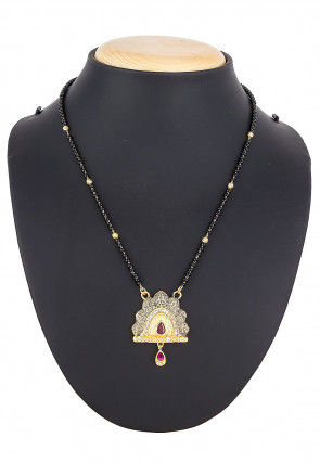 Stone Studded Peacock Style Mangalsutra