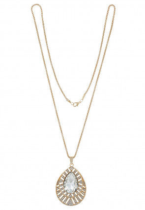 Stone Studded Pendant with Chain