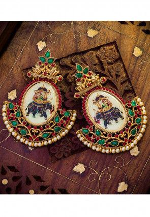 Stone Studded Rath Earrings