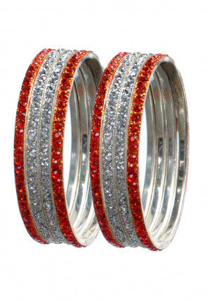 Stone Studded Set of Lac Bangles