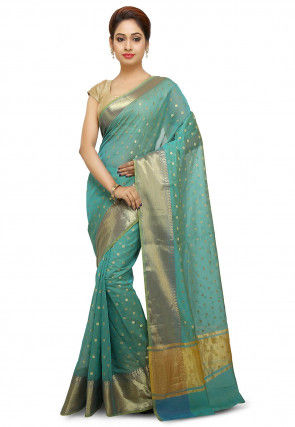 32e4c4239 Latest Zari Work Saree OnIine In Gorgeous Designs I Utsav Fashion