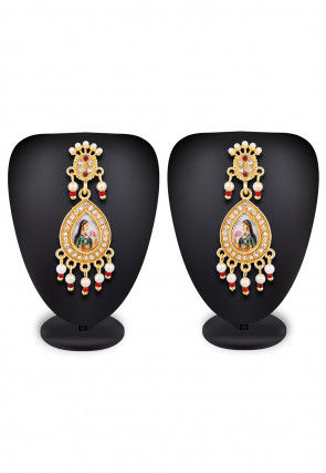 Tanjore Painted Earrings
